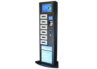 China LCD Advertising Cell Phone Charging Station , Charging Stations for Electronics Phone factory