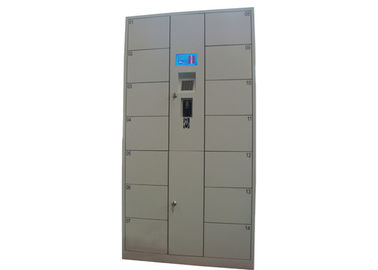 China Electronic Coins Banknotes Luggage Lockers , 14 Doors Metal School Lockers for Park / Gym / Library factory