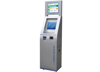 China Touch Screen Credit Card Payment Interactive Information Kiosk for Bank / Shopping Mall factory