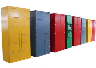 China 76 Doors Rental Stainless Steel Luggage Lockers , Electronic Parcel Lockers for Park factory