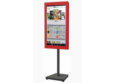 China 32 Inch LCD Digital Signage System , Semi Outdoor Digital Signage Advertising Stand factory