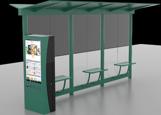 China Auto LCD Outdoor Digital Signage , Digital Bus Stop Shelter Advertising System factory
