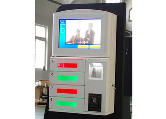 China Magstripe Card / IC Card / Member Card Accepted Cell Phone Charging Station with 19 Inch Touch Screen factory