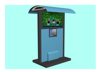 China Multimedia Advertising Waterproof Kiosk , LCD Touch Screen Outdoor Kiosks System with Shelter factory