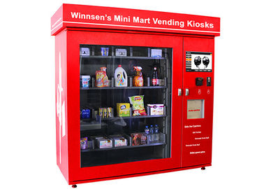 China Commercial Parks Vending Kiosk , Automatic Prepaid Cards Food Vending Station factory