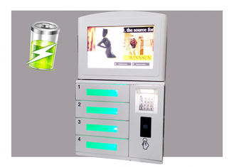 China Smart Multi Function Phone Charging Station Kiosk , Mobile Device Charging Station For Self Service Use factory