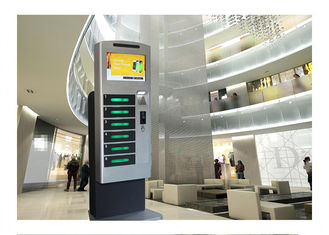China Commercial Cell Phone Charging Stations Kiosk , Secure Phone Charging Station factory