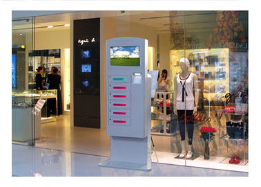 China Video Advertising Automatical Smart Cell Phone Charging Kiosk Interactive Information factory