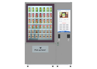 China 32 Inch Advertising LCD Screen Fresh Salad Vending Machines With Elevator System factory