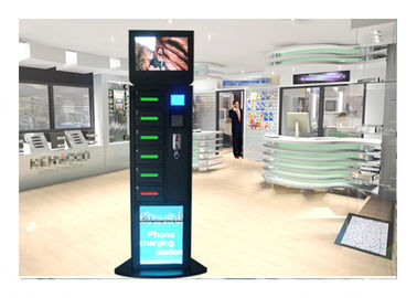 China Shopping Mall Cell Phone Charging Station , Mobile Phone Charging Kiosk factory