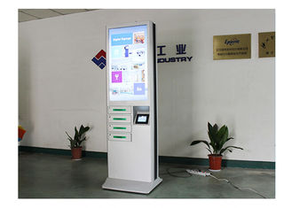 China 43 Inch Advertising Wireless Mobile Phone Charging Station With 4 Lockers factory
