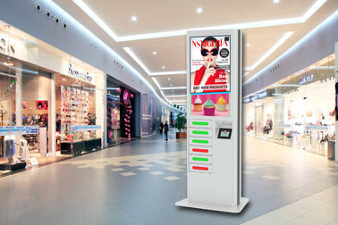 China 42 Inch LCD Digital Signage Cell Phone Fast Charging Station Kiosk  with 6 Secured Safe Doors factory