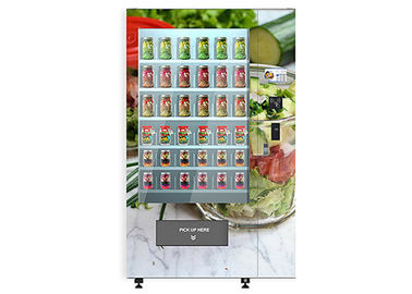 China Smart Cake Yogurt Salad Vending Machine With Wooden Outlook / Elevator System factory