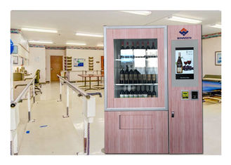 China Huge Variety Adjustable Channel Wine Vending Machine With Elevator , Remote Function factory