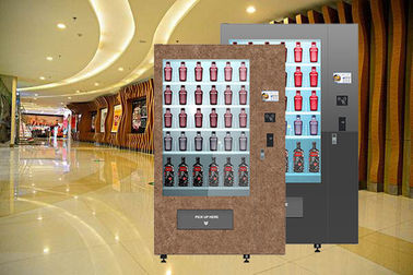 "China Winnsen Design Wine Bottle Vending Machine With 32"" Advertising Touch Screen factory"