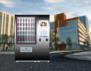 China Big Touch Screen Bottle Wine Vending Machine With Remote Platform And Coin Bill Acceptor factory