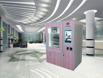 "China Red Wine Automatic Vending Machine With 22"" Advertising Touch Screen And Elevator factory"