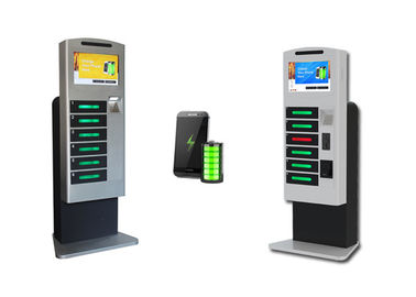 China Winnsen Multi Languages Cell Phone Charging Stations Kiosks With 6 Digital Lockers factory