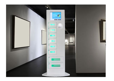 China Floor Standing Cell Phone Charging Stations With 8 Digital Lockers and Quick Charge 3.0  System factory