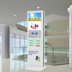 China Coin Operated Mobile Phone Charging Station , Cell Phone Charger Kiosk factory