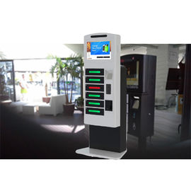 China Remote Control Posters Public Cell Phone Charging Kiosk With Advertising Function factory