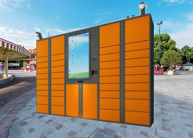China LCD Touch Screen Electric Parcel Delivery Lockers With Advertising Function factory