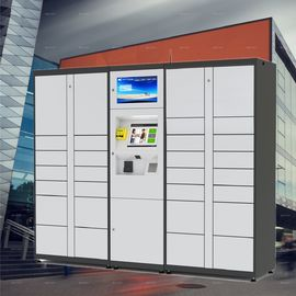 China Popular Steel Parcel Delivery Lockers / Intelligent Parcel Lockers With Keys Holder factory
