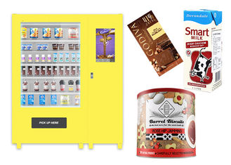 China Self Automatic Snack Combo Vending Machine , Conveyor Belt Vending Locker With Elevator factory