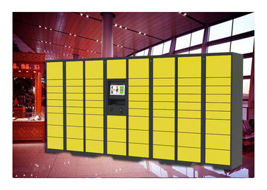 China Supermarket Rental Public Luggage Lockers With Larging Advertising Screen factory