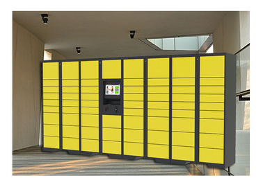 China Electronic Storage Luggage Lockers With Coin / Bill / Credit Card Payment Model factory