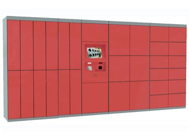 China Custom Design Steel Smart Intelligent Luggage Storage Locker With Advertising Screen factory