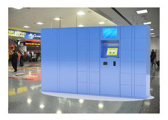 China Indoor Airport Pin Code Luggage Lockers With Cell Phone Charging Function factory