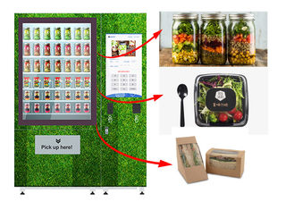 China Touch Screen Refrigerated Salad Vending Machine , Healthy Food Vending Locker With Lift factory