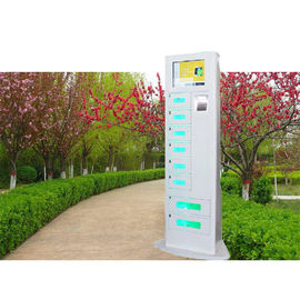 China High End Remote Access Mobile Charging Station With Ads Function For Train Station factory