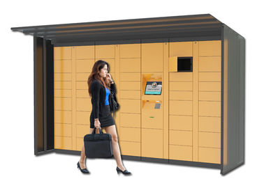 China Automatic Barcode Luggage Rental Lockers , Indoor Electronic Lockers For Park Supermarket factory