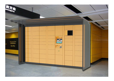 China Popular Design Airport Bus Station Luggage Lockers With Charging Phone Function factory