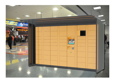 China Gym Shopping Mall Luggage Lockers Furniture Money Payment Coin / Bill / Credit Card Operated factory