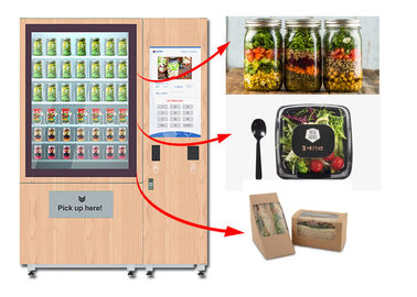 China Winnsen Juice Salad Vending Machine , Healthy Food Vending Locker With Lift System factory