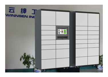 China Indoor Touched Screen Rental Luggage Lockers With Coin / Bill / Credit Card factory