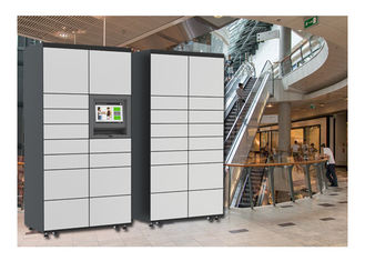 China Public Rental Touch Screen Locker For Luggage , Fingerprint Storage Lockers For Lounge factory