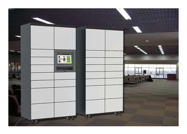 China 24 Hours Automatic Storage Different Size Luggage Lockers Rental Stainless Steel Material factory