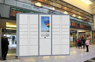 China Smart Electronic Public Lockers Rental With Different Payment Devices Languages UI factory