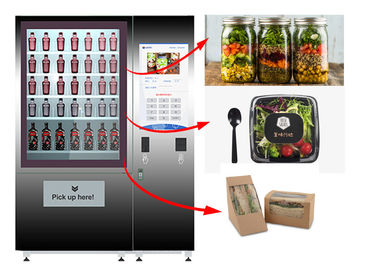 China Healthy Food Vending Locker , Salad Vending Machine With Remote Control System factory