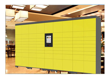 China 24 House Self Service Luggage Lockers Deposit Smart Lockers With 22 Inch Touch Screen factory