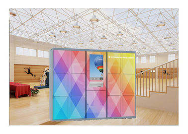 China Industrial Self Service Laundry Locker , Smart Dry Cleaning Lockers Touch Screen factory