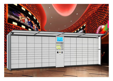 China High Tech Storage Luggage Lockers With Stainless Steel And Income Report Function factory