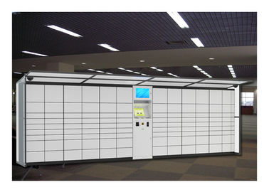 China Airport Station Electronic Storage Luggage Lockers Container Rental With Pin Code Access factory
