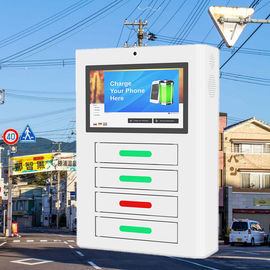 China Android Network Mobile Smartphone Charging Station With display digital signage factory