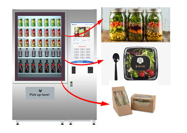 China Stand Fresh Salad Vending Machine With Lift System And Remote Advertising System factory