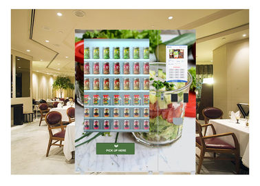 China Outdoor Refrigerator Salad In A Jar Vending Machine With 32 Inch Touch Screen factory